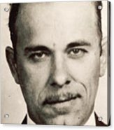 John Dillinger Mug Shot Sepia Acrylic Print