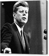 John F. Kennedy, Urges The Senate Acrylic Print