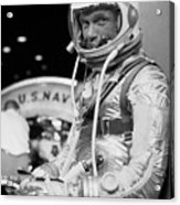 John Glenn Wearing A Space Suit Acrylic Print