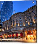 John Hancock Tower Fairmont Copley Plaza Boston Ma Acrylic Print