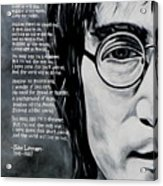 John Lennon - Imagine Acrylic Print by Eddie Lim