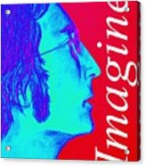 Imagine John Lennon In Profile Acrylic Print