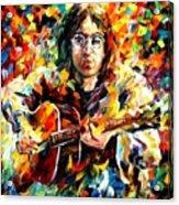 John Lennon Acrylic Print by Leonid Afremov