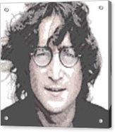 John Lennon - Parallel Hatching Acrylic Print