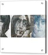 John Lennon Triptych Acrylic Print