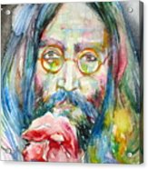 John Lennon - Watercolor Portrait.9 Acrylic Print