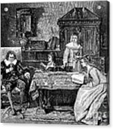 John Milton Dictating Paradise Lost Acrylic Print