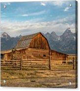 John Moulton Barn Sunrise Acrylic Print