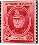 John Philip Sousa Postage Stamp Acrylic Print