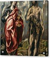 John The Baptist And Saint John The Evangelist Acrylic Print