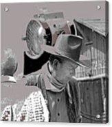 John Wayne And Director Howard Hawks  Alienated Rio Lobo Old Tucson Arizona 1970-2016 Acrylic Print