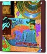 John Wayne Coors Light Commemorative Tinware  Coolidge Arizona 2004-2009 Acrylic Print