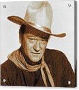 John Wayne, Hollywood Legend Acrylic Print