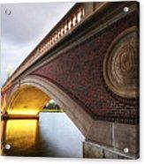 John Weeks Bridge Charles River Harvard Square Cambridge Ma Acrylic Print