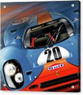 John Wyer's Gulf Porsche 917 Acrylic Print