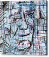 Johnny Cash Acrylic Print by Jera Sky