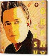 Johnny Cash Poster  Acrylic Print