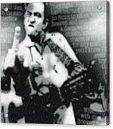 Johnny Cash Rebel Vertical Acrylic Print