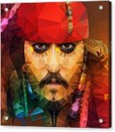 Johnny Depp As Jack Sparrow Acrylic Print
