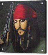 Johnny Depp- Captain Jack Acrylic Print