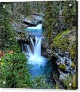 Johnston Canyon Falls Hike Lower Falls Acrylic Print