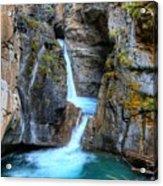 Johnston Canyon Falls Hike Upper Falls II Acrylic Print