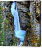 Johnston Canyon Falls Hike Upper Falls Acrylic Print