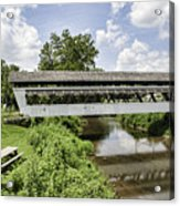 Johnston Covered Bridge Acrylic Print