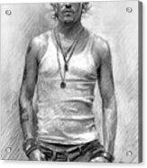 Johny Depp Acrylic Print
