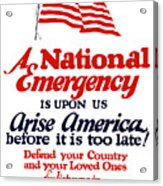 Arise America Before It Is Too Late - Join The Navy Acrylic Print