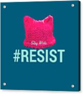Join The Resistance Acrylic Print