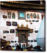 Jokhang Temple Wall Lhasa Tibet Artmif.lv Acrylic Print