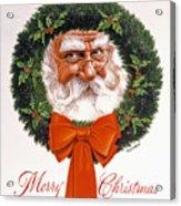 Jolly Old Saint Nick Acrylic Print by Richard De Wolfe