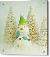 Jolly The Snowman I Acrylic Print