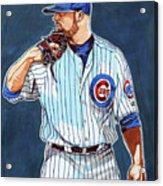 Jon Lester Chicago Cubs Acrylic Print
