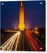 Jones Beach Pencil Light Trails Acrylic Print