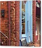 Jonesborough Tennessee Main Street Acrylic Print by Frank Romeo