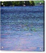Jordan Pond Tryptych Left Acrylic Print