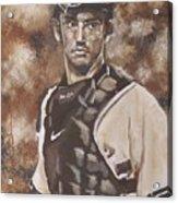 Jorge Posada New York Yankees Acrylic Print