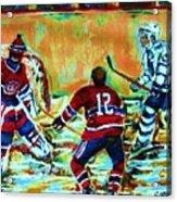Jose Theodore The Goalkeeper Acrylic Print