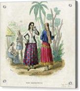 Josefa Martines Et Panchita Reyes Acrylic Print