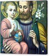 Joseph And Baby Jesus Acrylic Print