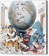 Joseph Pulitzer Cartoon Acrylic Print