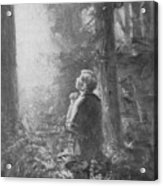 Joseph Smith Praying In The Grove Acrylic Print by Lewis A Ramsey