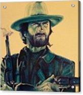 Josey Wales Outlaw. Smokin Gun Acrylic Print