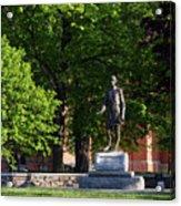 Joshua Lawrence Chamberlain Statue, Brunswick, Maine #0013 Acrylic Print