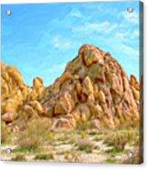 Joshua Tree Rocks Acrylic Print