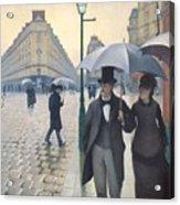 Jour De Pluie A Paris Acrylic Print
