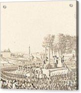 Journee Du 16 Octobre 1793, La Morte De Marie-antoinette Acrylic Print