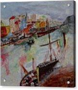 Journey On Waters Acrylic Print